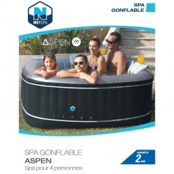 Spa Inflable Piscina EXPERTO Aspen square, 4 asientos