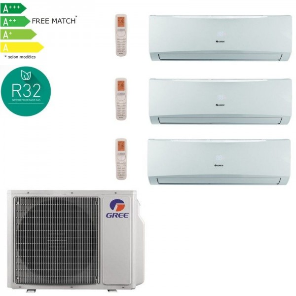 GREE LOMO Pack multisplit 24 7000W pour 3 pieces 3x09-PROMOS-SHOP-1 925,00 TTC