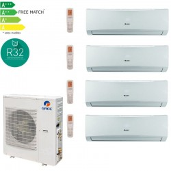 GREE LOMO Pack multisplit 42 12500W pour 4 pieces 3x07+1x24-PROMOS-SHOP